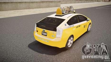 Toyota Prius LCC Taxi 2011 для GTA 4 вид снизу