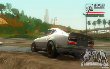 Datsun 240ZG для GTA San Andreas вид сзади