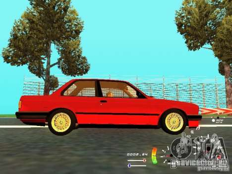 BMW E30 87-91 для GTA San Andreas вид сзади
