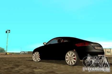 Audi TT 2007 для GTA San Andreas вид сзади слева