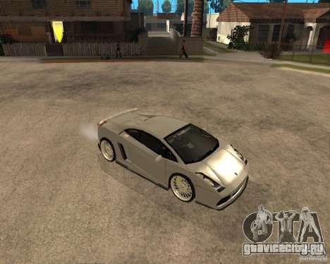 Lamborghini Gallardo для GTA San Andreas вид сзади слева