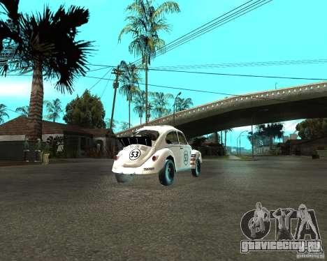 Volkswagen Beetle Herby для GTA San Andreas вид сзади слева