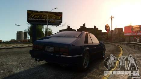 Uranus Hatchback для GTA 4 вид справа