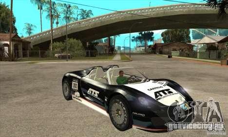 Porsche 918 Spyder для GTA San Andreas вид сзади