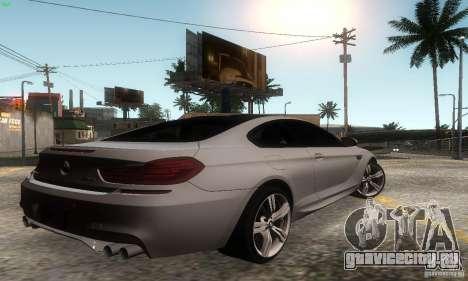 BMW M6 Coupe 2013 для GTA San Andreas вид слева