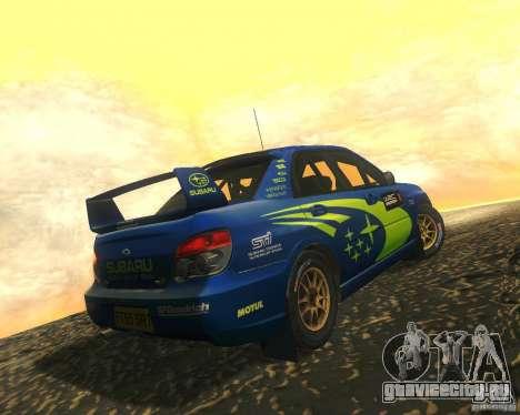 Subaru Impreza WRX STI DIRT 2 для GTA San Andreas вид изнутри