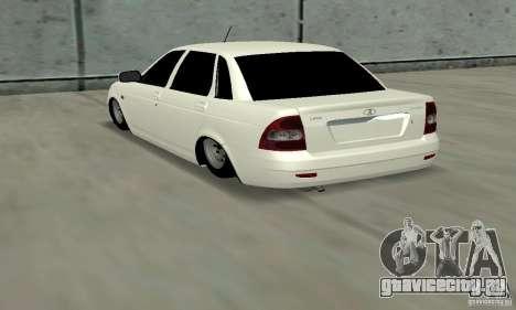 Lada Priora Low для GTA San Andreas вид сзади слева
