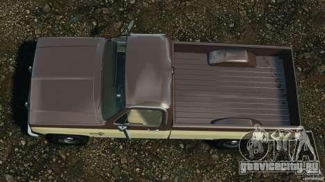 Chevrolet Silverado 1986 для GTA 4 вид справа