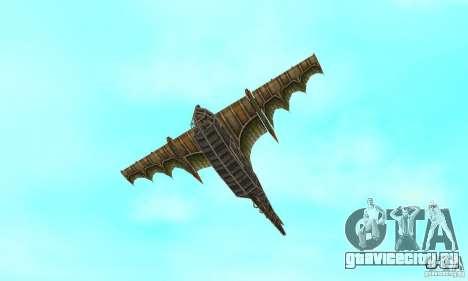 Очень красивый самолет из TimeShift для GTA San Andreas вид сверху