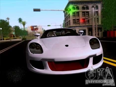 Porsche Carrera GT для GTA San Andreas вид сзади
