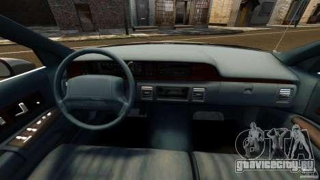 Chevrolet Caprice 1991 LCC Taxi для GTA 4 вид сзади
