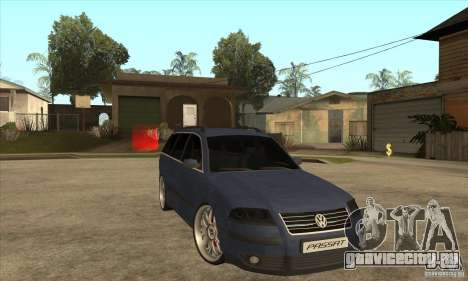 Volkswagen Passat B5.5 2.5TDI 4MOTION для GTA San Andreas вид сзади