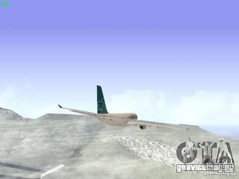 Airbus A330-200 Air Transat для GTA San Andreas вид сзади