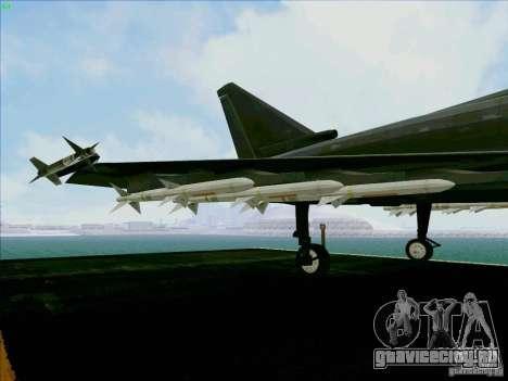Eurofighter-2000 Typhoon для GTA San Andreas вид сбоку