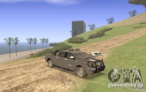 Toyota Tundra 4x4 для GTA San Andreas вид сбоку