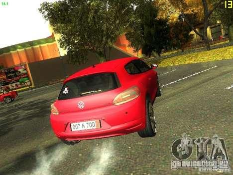 Volkswagen Scirocco 2009 для GTA San Andreas вид изнутри