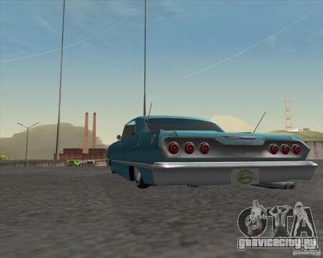 Chevrolet Impala 1963 lowrider для GTA San Andreas вид сзади