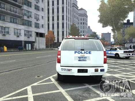 Chevrolet Tahoe NYCPD для GTA 4 вид сзади