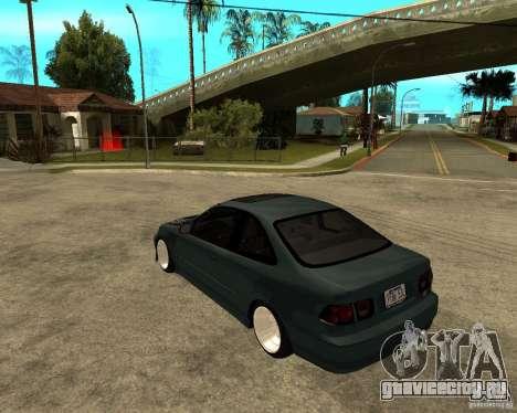 Honda Civic Coupe V-Tech для GTA San Andreas вид сзади слева