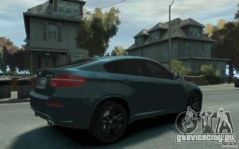 BMW X6-M 2010 для GTA 4 вид справа
