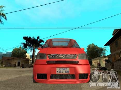 VW T4 Eurovan VR6 BiTurbo 20T для GTA San Andreas вид справа