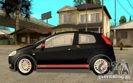 Fiat Grande Punto 3.0 Abarth для GTA San Andreas вид слева