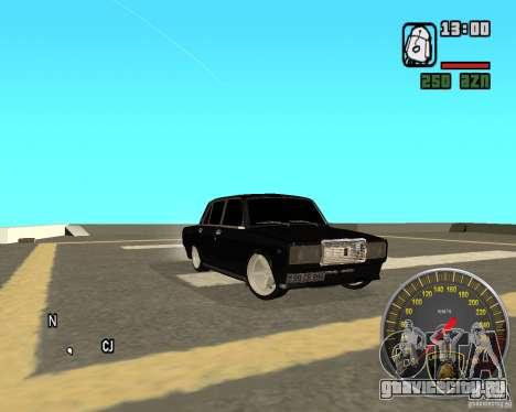 ВАЗ 2107 DuB для GTA San Andreas вид справа