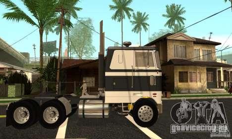 Peterbilt 362 Cabover для GTA San Andreas вид слева