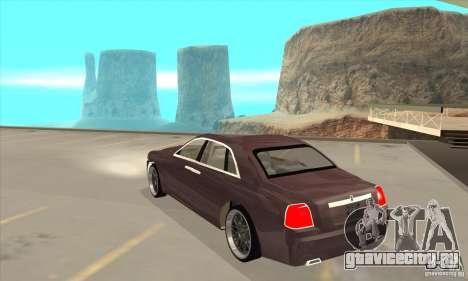 Rolls-Royce Ghost 2010 для GTA San Andreas вид сзади слева