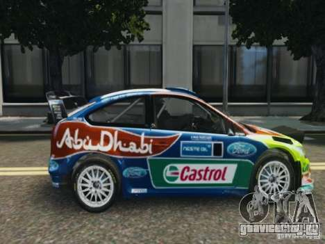 Ford Focus RS WRC для GTA 4 вид сзади слева