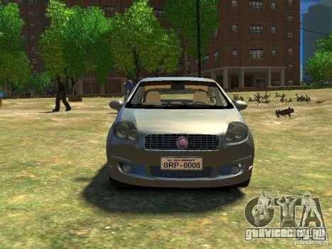 Fiat Linea для GTA 4 вид сзади