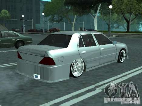 Toyota Crown S 150 TuninG для GTA San Andreas вид сзади слева