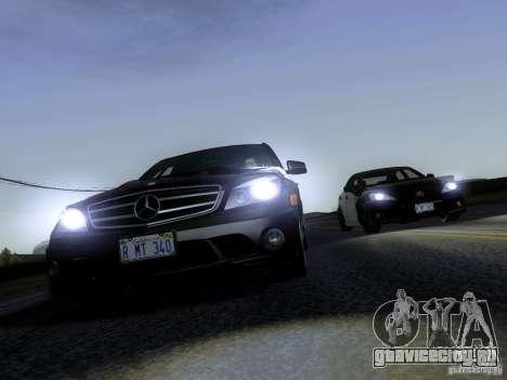 Mercedes-Benz C63 AMG 2010 для GTA San Andreas вид сзади