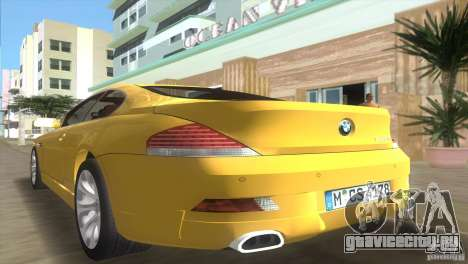 BMW 645Ci для GTA Vice City вид изнутри