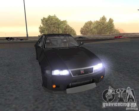 Nissan Skyline GT-R R-33 для GTA San Andreas вид сбоку