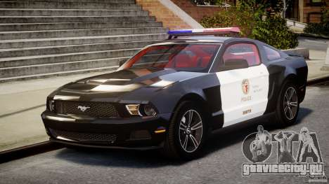 Ford Mustang V6 2010 Police v1.0 для GTA 4