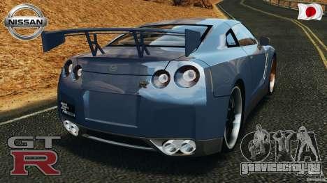 Nissan GT-R 35 rEACT v1.0 для GTA 4 вид сзади слева