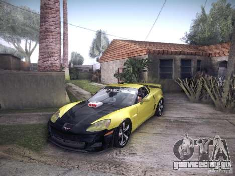 Chevrolet Corvette C6 Z06 Tuning для GTA San Andreas вид изнутри