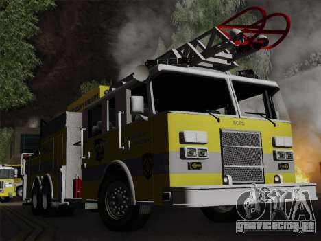 Pierce Arrow XT BCFD Tower Ladder 4 для GTA San Andreas вид сверху