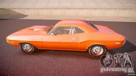 Dodge Challenger v1.0 1970 для GTA 4 вид слева