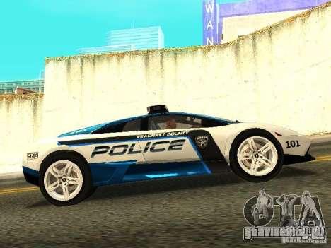 Lamborghini Murcielago LP640 Police V1.0 для GTA San Andreas вид слева