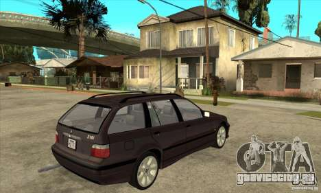 BMW 318i Touring для GTA San Andreas вид сзади