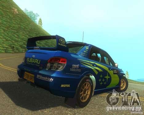 Subaru Impreza WRX STI DIRT 2 для GTA San Andreas вид справа