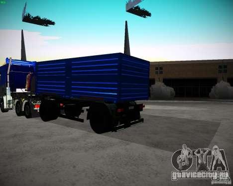Прицеп к КамАЗу 65117 Зерновоз для GTA San Andreas вид сзади слева