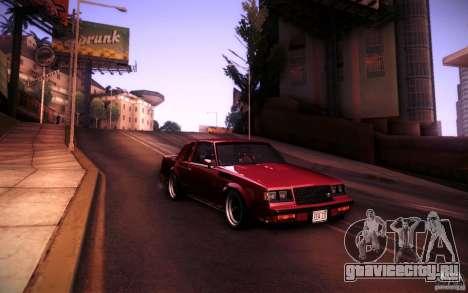 Buick Regal GNX для GTA San Andreas вид справа