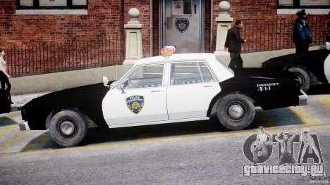 Chevrolet Impala Police 1983 для GTA 4 вид сзади слева
