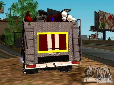 Урал 5557-40 пожарная для GTA San Andreas вид сзади слева