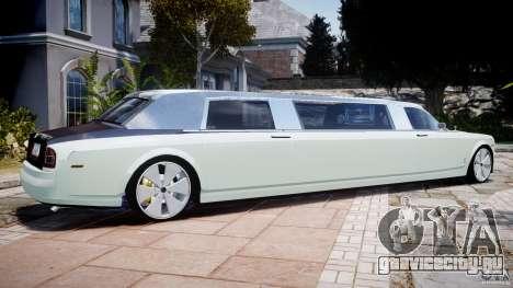 Rolls Royce Phantom Sapphire Limousine Disco для GTA 4 вид слева