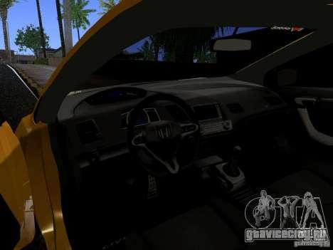 Honda Civic Si JDM для GTA San Andreas вид сзади