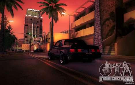 Buick Regal GNX для GTA San Andreas вид сзади слева